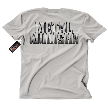 Metal Mulisha Border T-Shirt Mens Back Silver