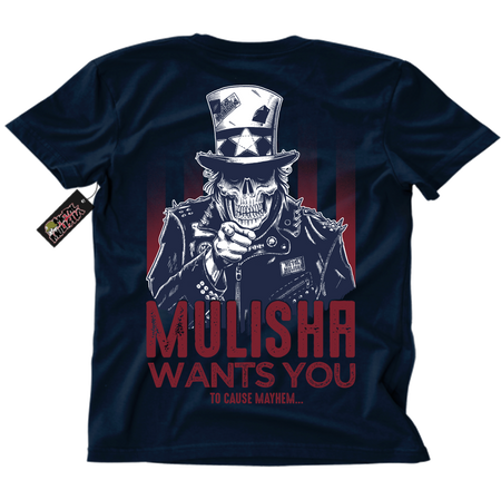 Metal Mulisha Choose You T-Shirt Mens Back Navy Uncle Sam