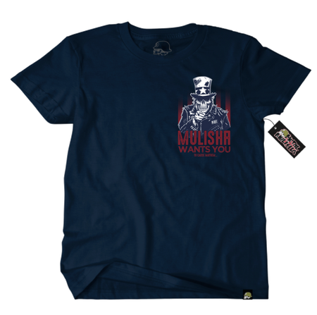 Metal Mulisha Choose You T-Shirt Mens Front Navy Uncle Sam