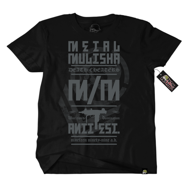 Metal Mulisha Armed Society Column T-Shirt Mens Front Black