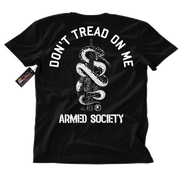 Metal Mulisha Armed Society Don't Tread On Me T-Shirt Mens Back Black