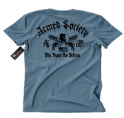 Metal Mulisha Armed Society Defender T-Shirt Mens Back Slate