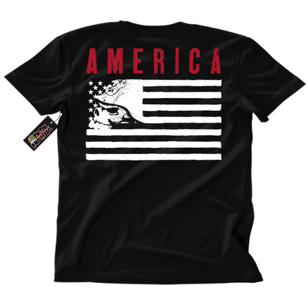 Metal Mulisha American Flag Liberty T-Shirt Back Black Red White