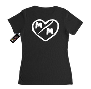 Metal Mulisha Womens M/M Hearts T-Shirt Black Back