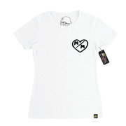 Metal Mulisha Womens M/M Hearts T-Shirt White Front