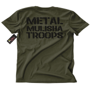Metal Mulisha Troops T-Shirt Mens Back Military Green