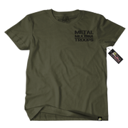 Metal Mulisha Troops T-Shirt Mens Front Military Green