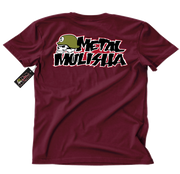 Metal Mulisha OG Block T-Shirt Mens Back Maroon