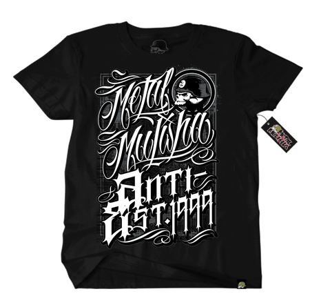 Metal Mulisha Old School T-Shirt Front Black White