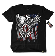 Metal Mulisha USA American Flag T-Shirt Mens Front Red White and Blue