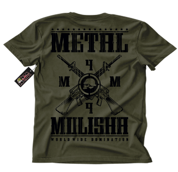 Metal Mulisha Standard Issue T-Shirt Mens Back Military Green