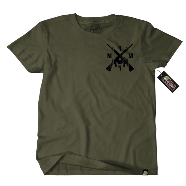 Metal Mulisha Standard Issue T-Shirt Mens Front Military Green