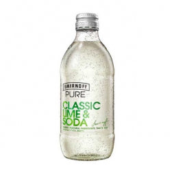 Smirnoff Pure Classic Lime & Soda  300ml x 24