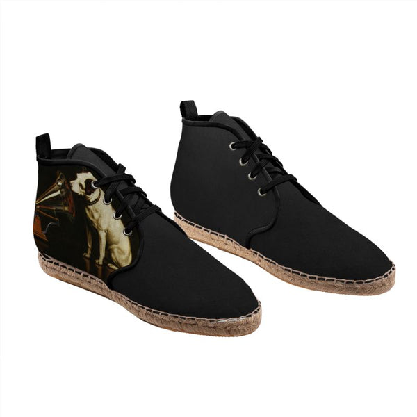'His Master's Voice' - Victor Hand-Stitched Hi Top Espadrilles Shoes (John Wanamaker® Collection)