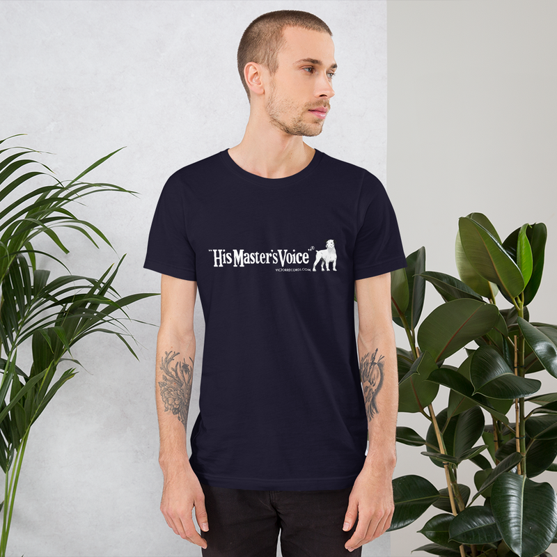 Victor 'His Master's Voice' Record Label Logo Short-Sleeve Unisex T-Shirt (Victorville® Collection)