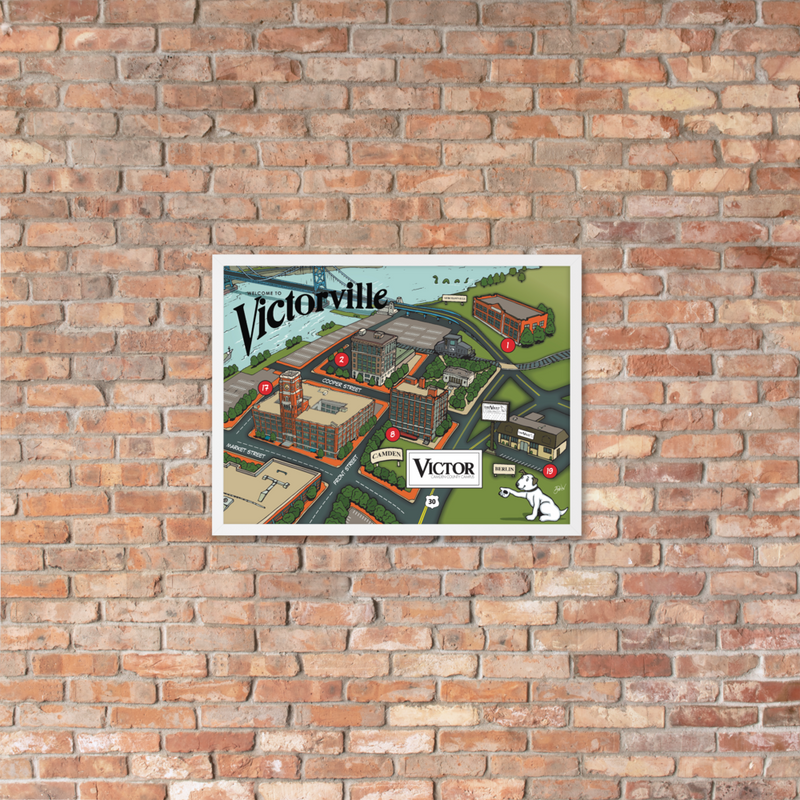 'Victorville Map' Framed poster (Victorville® Collection)