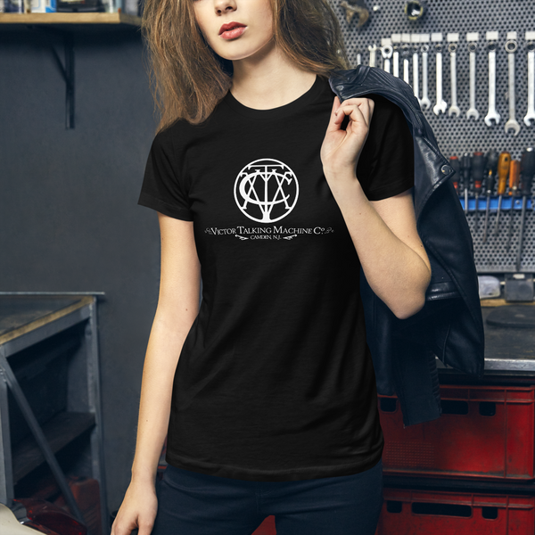 Classic Logo 'Victor Talking Machine Co.®' Women's Fitted Shirt (Victorville Collection®)