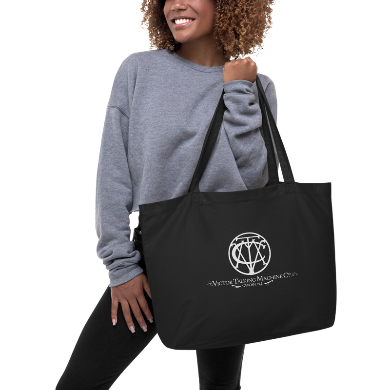 'Victor Talking Machine Co' Logo Large organic tote bag (Victorville® Collection)