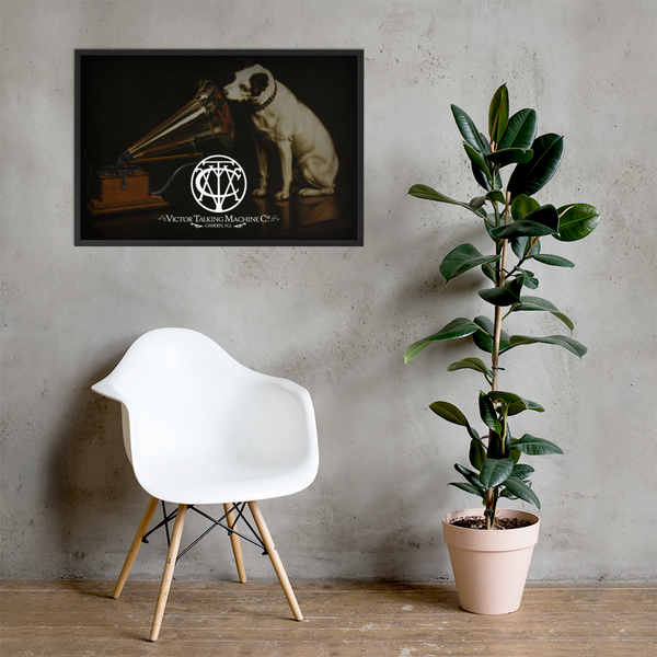 Francis Barraud 'His Master's Voice' Painting Framed Matte Poster (Francis Barraud® Art Studios)