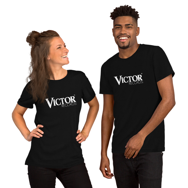 'Victor Records' Logo Short-Sleeve Unisex T-Shirt (Victorville® Collection)