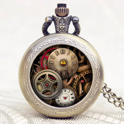 2017 New Arrival - Antique Steampunk Gear Pocket Watch