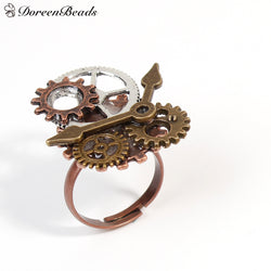 Steampunk Antique Copper / Bronze Gear Ring