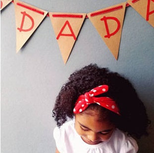 RED AND WHITE POLKA DOT HEADBAND