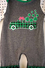 Green Plaid Clover Baby Romper - ARIA KIDS