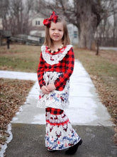 Christmas Buffalo Plaid Tunic & Pants 2-Piece Outfit (FREE BOW) - ARIA KIDS