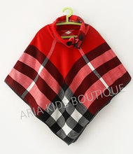 Nursing Plaid Poncho Baby Shower Gift for Her - ARIA KIDS