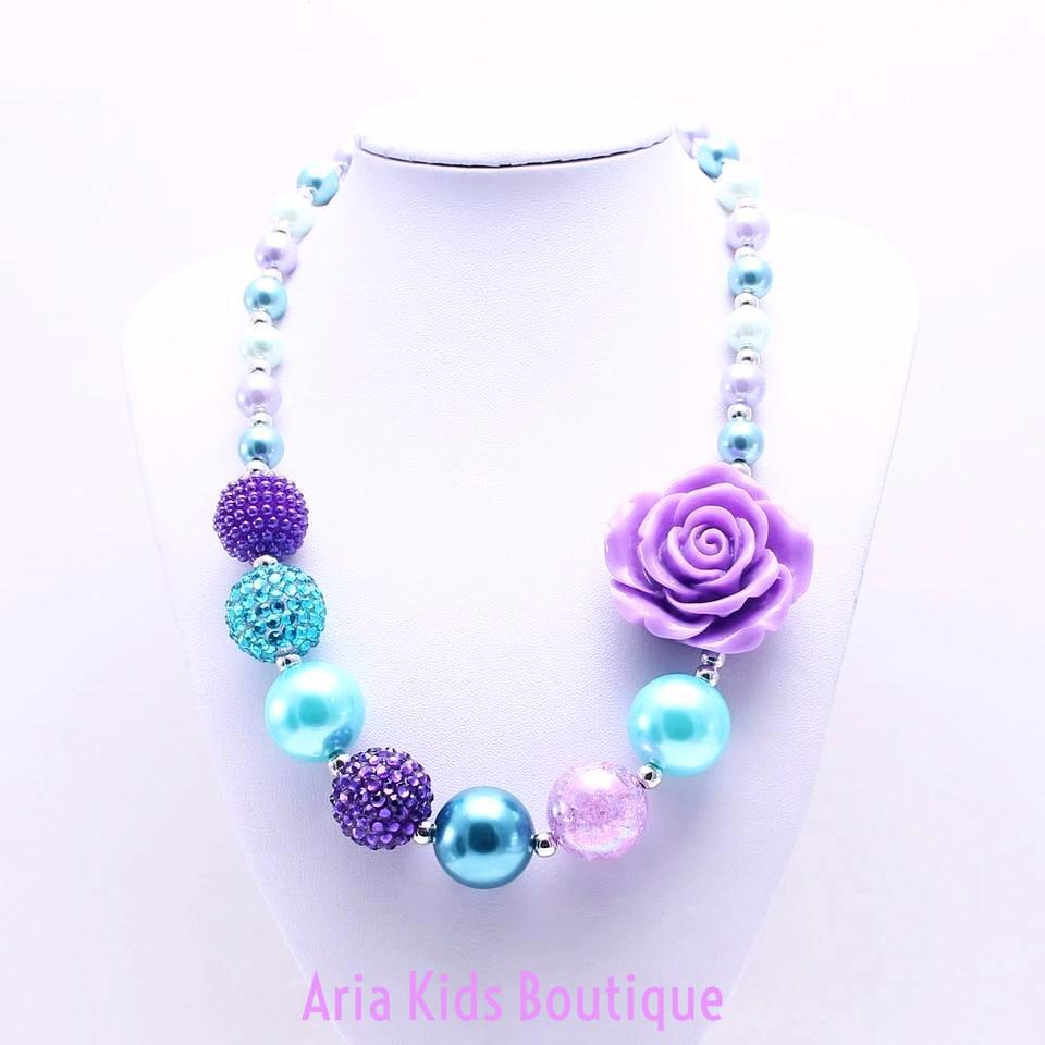 Mermaid Inspired Chunky Bubbglegum Necklace (RTS) - ARIA KIDS