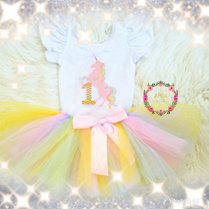 1st Birthday Unicorn Outfit - ARIA KIDS
