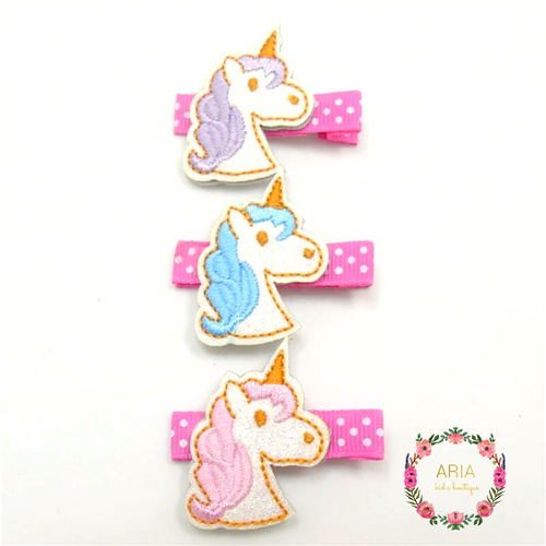 Unicorn Hair Clip - 3 Piece Gift Set - ARIA KIDS