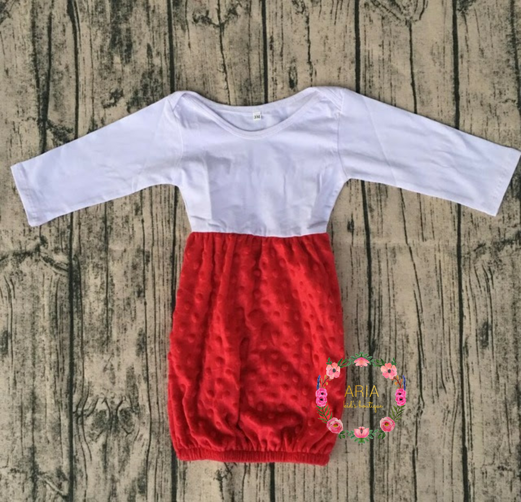 RED Baby Girl Gown (RTS) - ARIA KIDS
