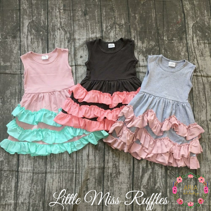 Little Miss Ruffles Dress - ARIA KIDS
