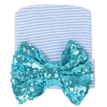 Sequin Bow Newborn Baby Beanie - ARIA KIDS