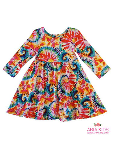 Tie Dye Twirl Dress - ARIA KIDS