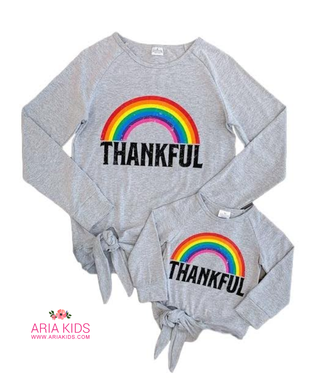 Mommy & Me Rainbow Thankful Shirts - ARIA KIDS
