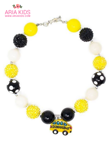 Yellow Bus Back To School Necklace - ARIA KIDS