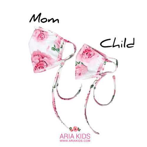 Mommy & Me - Rose Pink Face Mask - ARIA KIDS