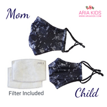Mommy & Me - Navy Camouflage Mask  (Filter Included) - ARIA KIDS