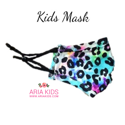 Leopard Rainbow Face Mask - Child - ARIA KIDS