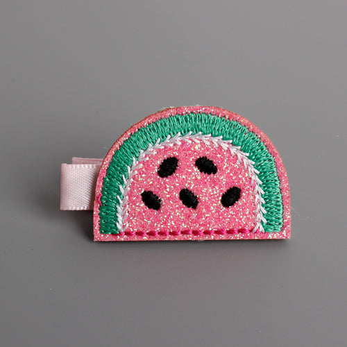 Watermelon Embroidered Hair Clip - ARIA KIDS