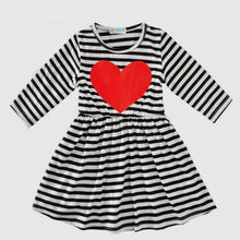 Heather Heart Long Sleeve Stripe Dress - ARIA KIDS