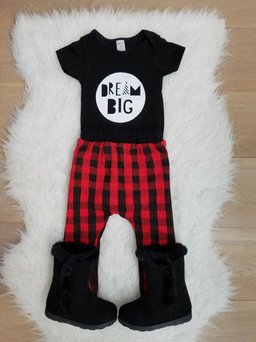 DREAM BIG Little One Unisex Romper - ARIA KIDS