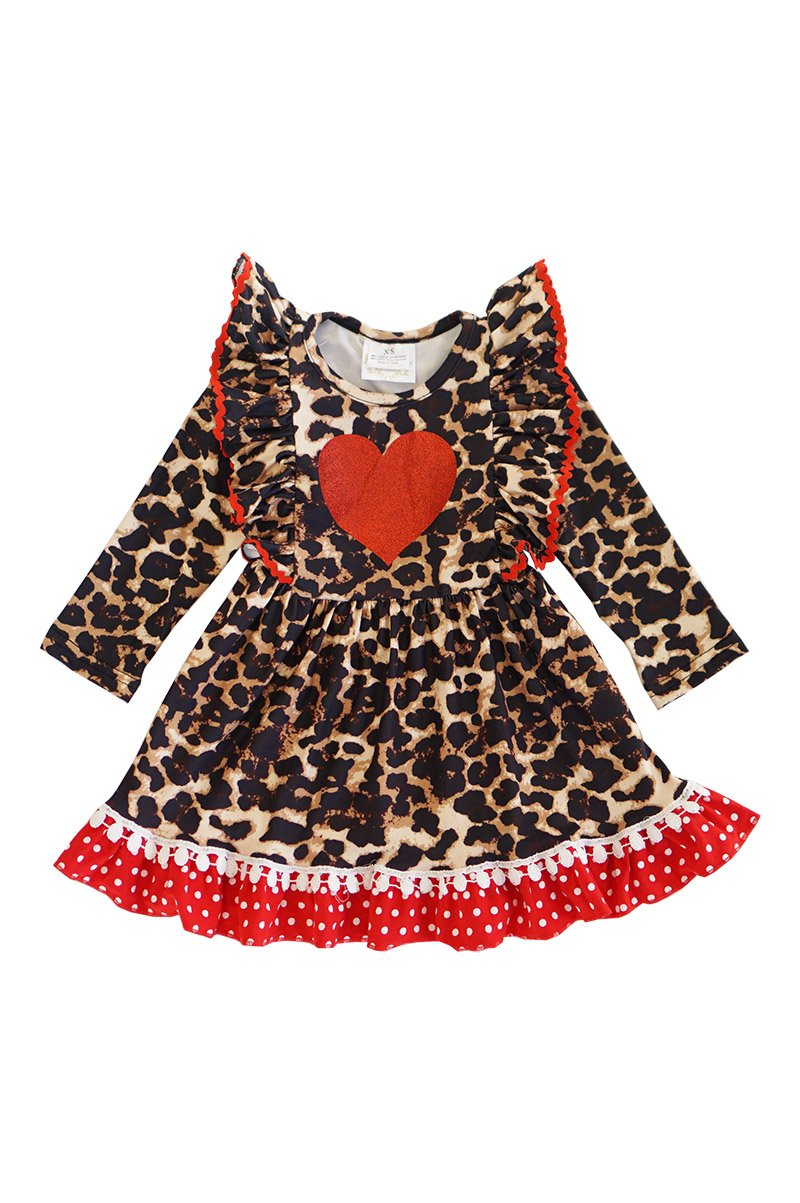 Cheetah Love Ruffle Dress - ARIA KIDS