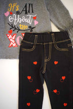 It's all about the XOXO top with heart denim jeans set CKTZ-204010 sale - ARIA KIDS