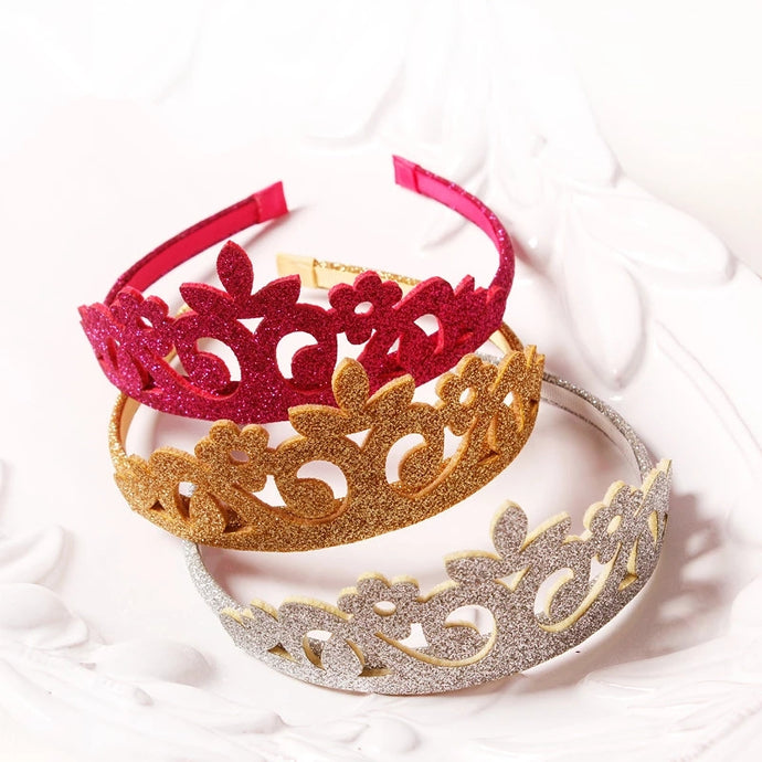 Crown Headbands - Pink, Gold, Silver - ARIA KIDS