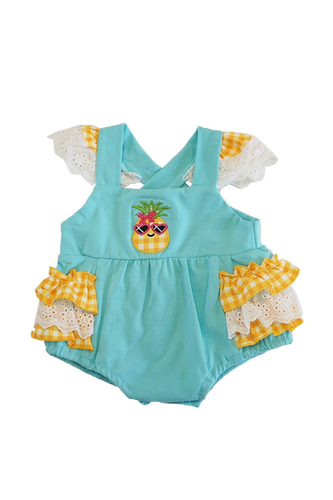 Pineapple Ruffle Lace Baby Romper - ARIA KIDS