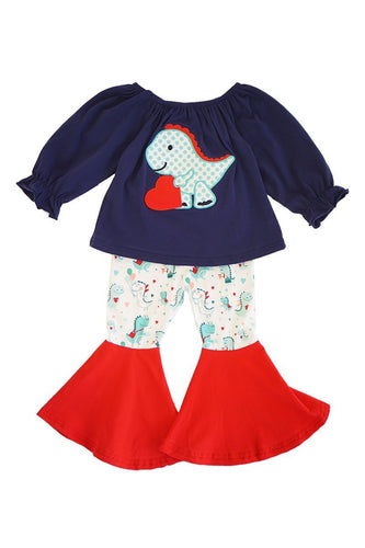 Dinosaur Love Bell 2-Piece Set - ARIA KIDS